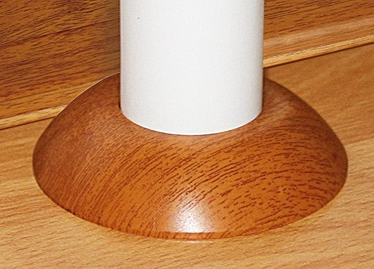 Укладка ламината вокруг труб