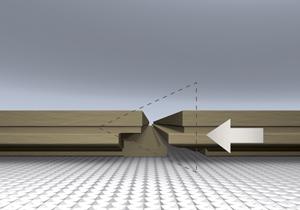 Крепление панелей ламината по горизонтали